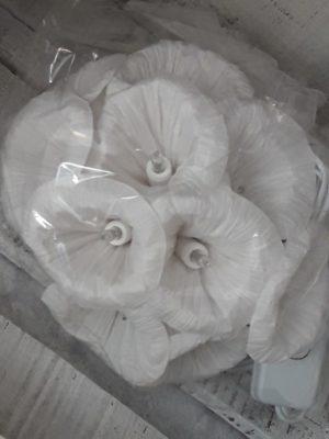 guirlande fleurs papier 10 lampes